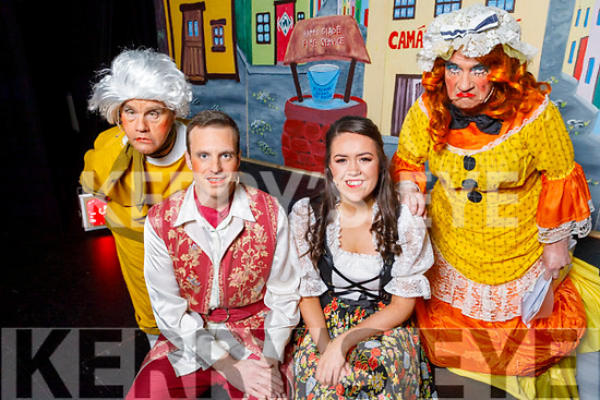 Getting ready back stage at the Cinderella Panto in the KDYS Killorglin on Sunday.<br /> Colm Clifford (Jolly Henchman), Chris Brennan (Prince Charming), Sophieanne Horgan (Cinderella) and Declan Mangan (Insomnia the Ugly Sister)