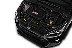Car stock 2017 Ford Focus RS Limited 5 Door Hatchback engine high angle detail view