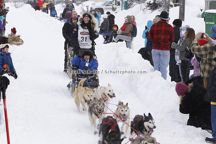 Kristy Berington Saturday, March 3, 2012  Ceremonial Start of Iditarod 2012 in Anchorage, Alaska.