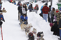 Kristy Berington Saturday, March 3, 2012  Ceremonial Start of Iditarod 2012 in Anchorage, Alaska.