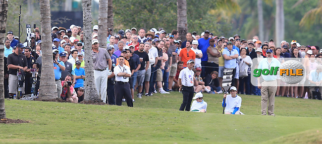 Graeme McDowell (NIR) on the 18th during day three at the WGC Cadillac championship at Doral Golf Resort & Spa,Doral, Florida,USA..Picture: Fran Caffrey / www.golffile.ie ..
