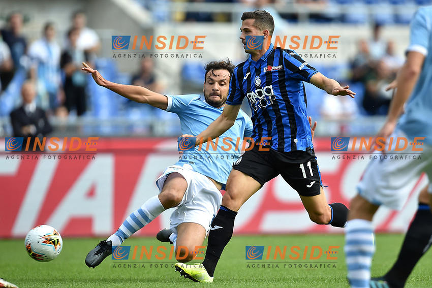 Marco Parolo of SS Lazio , Remo Freuler of Atalanta BC <br /> Roma 19-10-2019 Stadio Olimpico <br /> Football Serie A 2019/2020 <br /> SS Lazio - Atalanta<br /> Foto Andrea Staccioli / Insidefoto