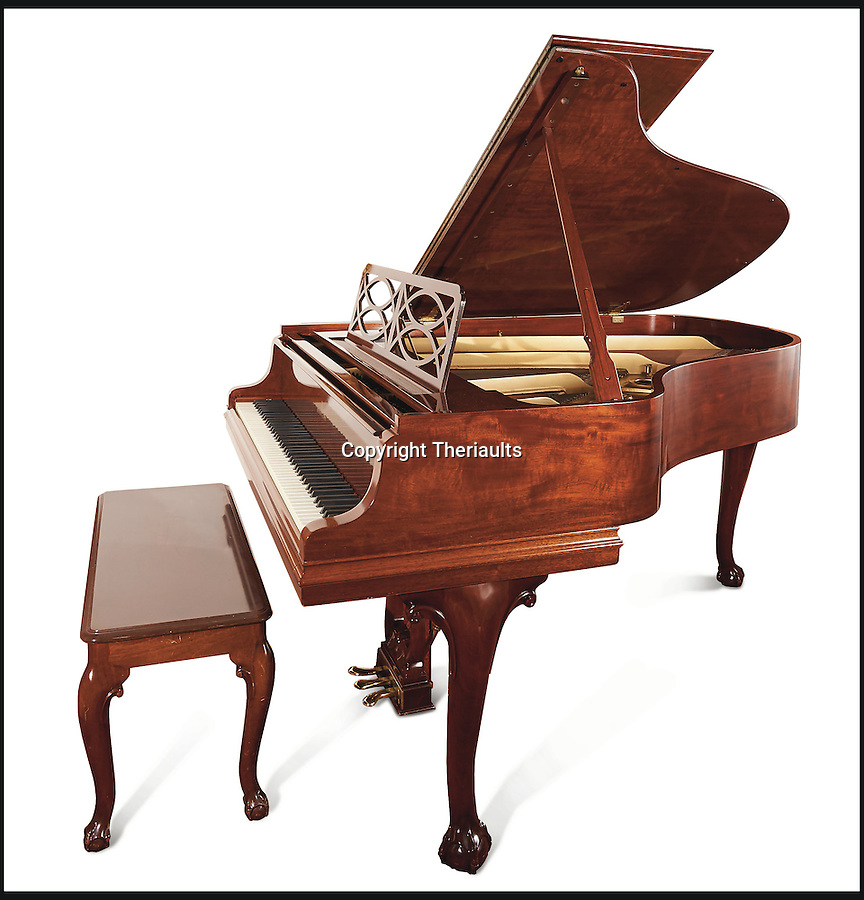 BNPS.co.uk (01202 558833)<br /> Pic: Theriaults/BNPS<br /> <br /> Shirley Temple's baby grand Steinway piano with personal inscription from Steinway.<br /> <br /> The costumes worn by childhood movie star Shirley Temple during her Hollywood career make up a long-lost £1.5m collection belonging to the late actress.<br /> <br /> The curly-haired performer's parents made it a condition that she got to keep all of her outfits after filming rather than return them to the movie studios.<br /> <br /> The child costumes, that include the iconic red and white polka-dot dress the then six year old wore in her breakthrough role in the 1934 flick 'Stand Up and Cheer', have been locked away in a vault at her home for 75 years. They are being sold in Maryland, US.