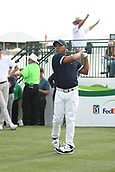 January 31st 2019, Scotsdale, Arizona, USA; Harold Varner III tees off the first hole during the first round of the Waste Management Phoenix Open