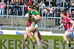 Donnchadh Walsh Kerry is held up by Gary O'Donnell Galwey during their Allianz National Football League clash in Killarney last Sunday