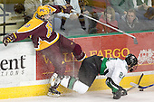 Kris Chucko, Chris Porter - The University of Minnesota Golden Gophers defeated the University of North Dakota Fighting Sioux 4-3 on Saturday, December 10, 2005 completing a weekend sweep of the Fighting Sioux at the Ralph Engelstad Arena in Grand Forks, North Dakota.