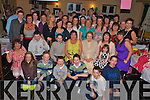 Carmel O'Keeffe, Milltown,seated centre,  pictured with family and friends as she celebrated her 40th birthday in the Old Killarney Inn, Aghadoe on Friday night........
