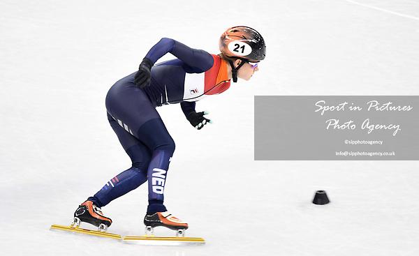 Yara van Kerkhof (NED). Short track. Gangneung ice arena. Pyeongchang2018 winter Olympics. Gangneung. Republic of Korea. 10/02/2018. ~ MANDATORY CREDIT Garry Bowden/SIPPA - NO UNAUTHORISED USE - +44 7837 394578