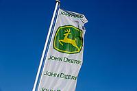 John Deere Flag <br /> &copy;Tim Scrivener Photographer 07850 303986<br /> ....Covering Agriculture In The UK....
