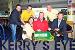 GO KERRY: Arthur Spring TD launching the Go Kerry.ie fundrasing Night at the Dogs to be held at the Kingdom Greyhond Stadium on Friday 7th of December front l-r: Caroline Boland, Eugene O'Sullivan and Arthur Spring TD. Back l-r: Ciaran Casey (race manager KGS), David Scott and Kieran Ruttledge.