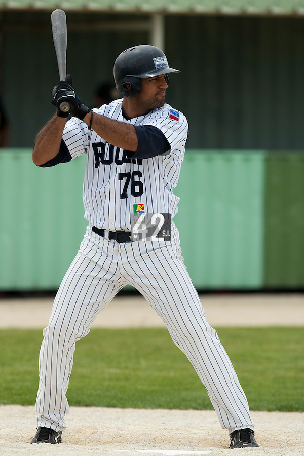21 May 2009: Keino Perez of Rouen is seen during the 2009 challenge de France, a tournament with the best French baseball teams - all eight elite league clubs - to determine a spot in the European Cup next year, at Montpellier, France.