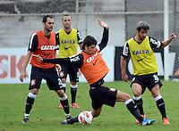 SÃO PAULO,SP, 26 Junho 2013 -  Lance  durante treino do Corinthians no CT Joaquim Grava na zona leste de Sao Paulo, onde o time se prepara  para o campeonato brasileiro. FOTO ALAN MORICI - BRAZIL FOTO PRESS
