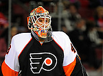 15 November 2008:  Philadelphia Flyers' goaltender Martin Biron warms up prior to a game against the Montreal Canadiens in their first meeting in Montreal since the Flyers knocked the Canadiens out of the playoffs last season. The Canadiens, celebrating their 100th season, fell to the visiting Flyers 2-1 at the Bell Centre in Montreal, Quebec, Canada. ***Editorial Sales Only***..Mandatory Photo Credit: Ed Wolfstein Photo *** Editorial Sales through Icon Sports Media *** www.iconsportsmedia.com