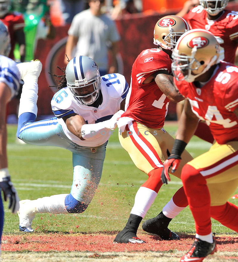 JESSE HOLLEY, of the Dallas Cowboys, in action during the Cowboy's game against the 49ers on September 18, 2011 at Candlestick Park in San Francisco, CA. The Cowboys beat the 49ers 27-24 in OT.