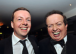 Comedian Oliver Callan and RTE Sports Commentator Marty Morrissey share a joke at the Bord G&aacute;is Energy Munster GAA Sports Star of the Year Awards in The Malton Hotel, Killarney at the weekend.<br /> Picture by Don MacMonagle<br /> <br /> <br /> PR photo from Munster Council