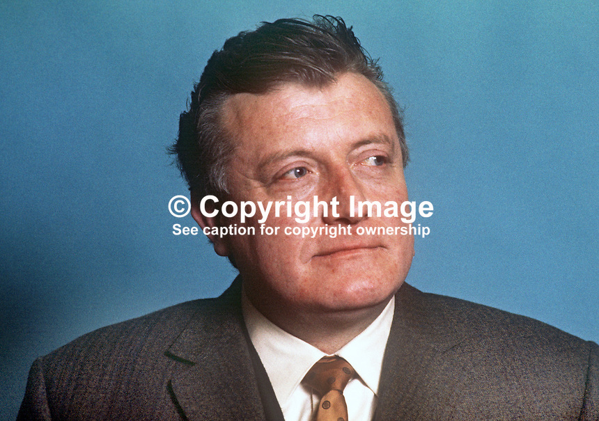 James O'Kane, councillor, Republican Labour Party, Belfast Corporation, N Ireland, 197101010049a<br /> <br /> Copyright Image from Victor Patterson, 54 Dorchester Park, Belfast, UK, BT9 6RJ<br /> <br /> Tel: +44 28 9066 1296<br /> Mob: +44 7802 353836<br /> Voicemail +44 20 8816 7153<br /> Skype: victorpattersonbelfast<br /> Email: victor@victorpatterson.com<br /> Email: victorpatterson@me.com (back-up)<br /> <br /> IMPORTANT: If you wish to use this image or any other of my images please go to www.victorpatterson.com and click on the Terms &amp; Conditions. Then contact me by email or phone with the reference number(s) of the image(s) concerned.