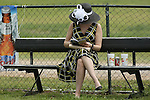 April 11, 2014: Derby hats the day of the Arkansas Derby at Oaklawn Park in Hot Springs, AR. Justin Manning/ESW/CSM
