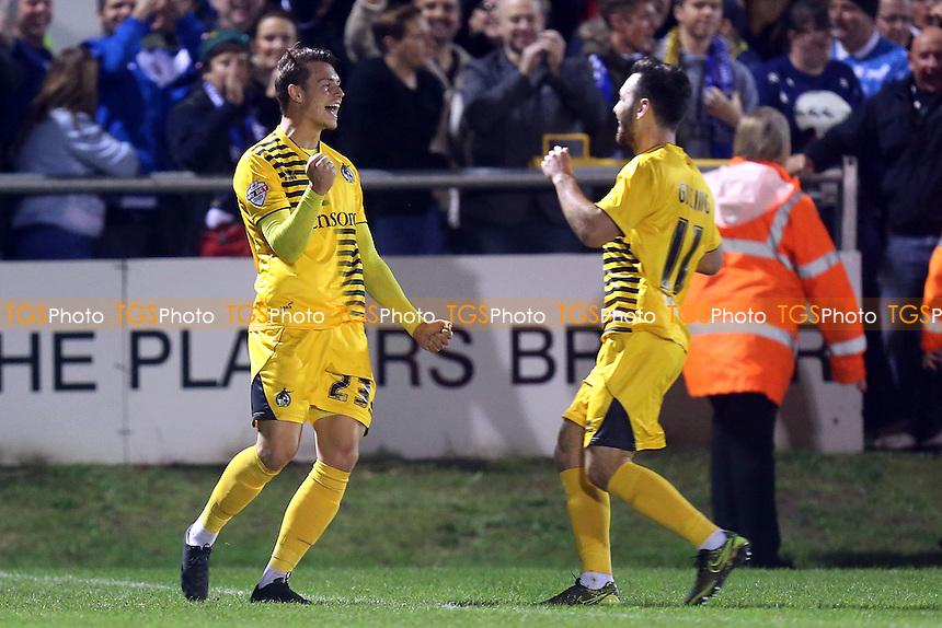 Billy Bodin of Bristol Rovers celebrates scoring the third goal during Dagenham and Redbridge vs Bristol Rovers, Sky Bet League 2 Football at the Chigwell Construction Stadium, London, England on 19/12/2015