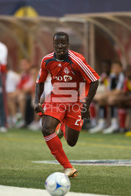Toronto FC forward Johann Smith (28). The New York Red Bulls defeated Toronto FC 2-0 during a Major League Soccer match at Giants Stadium in East Rutherford, NJ, on August 17, 2008.