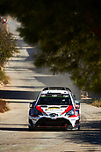 6th October 2017, Costa Daurada, Salou, Spain; FIA World Rally Championship, RallyRACC Catalunya, Spanish Rally; Esapekka Lappi and his co-driver Janne Ferm of Finland compete in their Toyota Gazoo Racing WRT Yaris WRC during the Terra Alta Stage