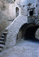 The medieval village is riddled with cobbled footpaths