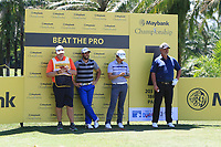 Adrian Otaegui (ESP), Jeunghun Wang (KOR) and Darren Clarke (NIR) stand in the shade on the 7th during Round 3 of the Maybank Championship at the Saujana Golf and Country Club in Kuala Lumpur on Saturday 3rd February 2018.<br /> Picture:  Thos Caffrey / www.golffile.ie<br /> <br /> All photo usage must carry mandatory copyright credit (© Golffile | Thos Caffrey)