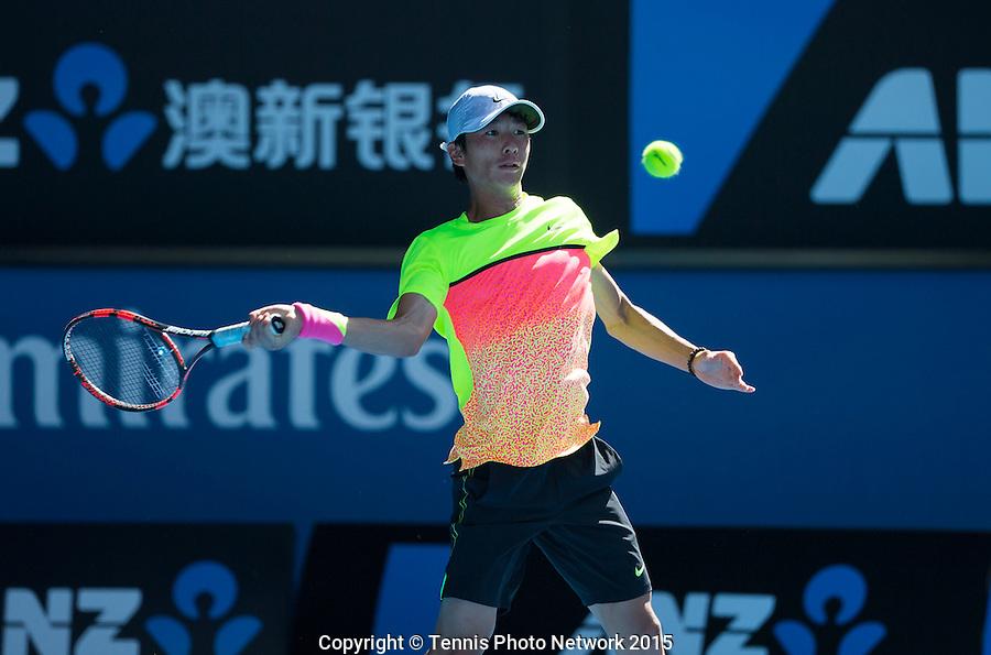 SEONG-CHAN HONG (KOR)<br /> <br /> Tennis - Australian Open 2015 - Grand Slam -  Melbourne Park - Melbourne - Victoria - Australia  - 31 January 2015. <br /> &copy; AMN IMAGES