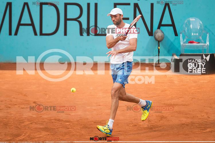 Croatian Ivo Karlovic during Mutua Madrid Open Tennis 2017 at Caja Magica in Madrid, May 10, 2017. Spain.<br /> (ALTERPHOTOS/BorjaB.Hojas) /NortePhoto.com **NortePhoto.com
