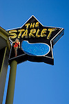 Starlet sign at apartment building in Burbank