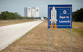 Cape Canaveral, FL - November 16, 2009 -- A launch countdown sign is seen along the road at the National Aeronautics and Space Administration's (NASA) Kennedy Space Center on Monday, November 16, 2009, Cape Canaveral, Florida.  The space shuttle Atlantis is scheduled to launch at 2:28 p.m. EST November 16, 2009.  .Mandatory Credit: Bill Ingalls - NASA via CNP