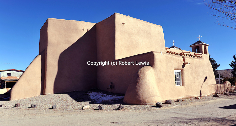 One of New Mexico's most popular, and, imho, most beautiful churches, famous for its rounded buttresses and combination of light and shadows.