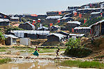 Rohingya children in the Mainerghona Refugee Camp near Cox's Bazar, Bangladesh, on October 27, 2017. Since August more than 600,000 Rohingya have fled government-sanctioned violence in Myanmar for safety in Bangladesh.