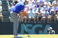 Zach Johnson (USA) putts on the 7th green during Saturday's Round 3 of the 118th U.S. Open Championship 2018, held at Shinnecock Hills Club, Southampton, New Jersey, USA. 16th June 2018.<br /> Picture: Eoin Clarke | Golffile<br /> <br /> <br /> All photos usage must carry mandatory copyright credit (&copy; Golffile | Eoin Clarke)
