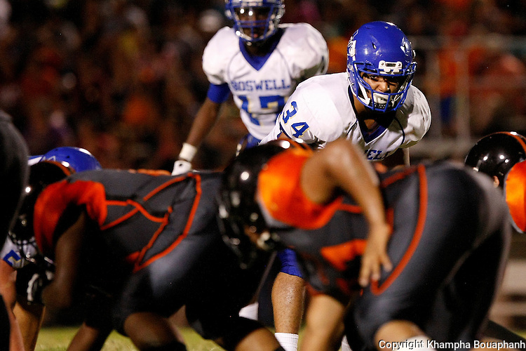 Haltom defeats Boswell 35-23 in a high school football game in Haltom City on Friday, August 30, 2013. (photo by Khampha Bouaphanh)