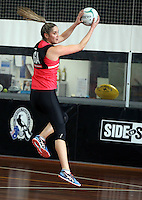 02.09.2016 Silver Ferns Te Paea Selby-Rickit during training in Melbourne Australia. Mandatory Photo Credit ©Michael Bradley.