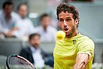 Caja Magica. Madrid. Spain. 07.05.2014. Feliciano Lopez in the Madrid Open tournament.