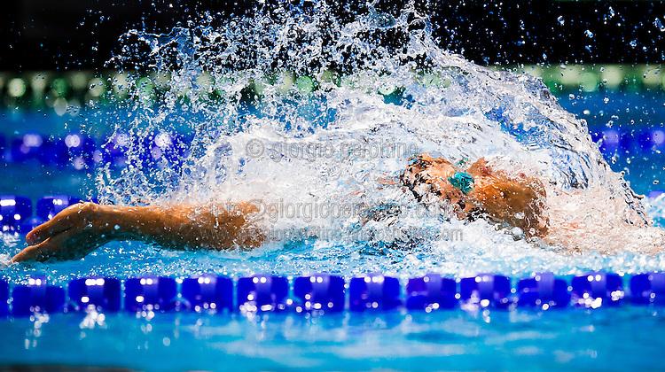 Mirco Di Tora ITA<br /> Men's 100m backstroke heats<br /> Swimming<br /> 15th FINA World Aquatics Championships<br /> Barcelona 19 July - 4 August 2013<br /> Palau Sant Jordi, Barcelona (Spain) 29/07/2013 <br /> © Giorgio Perottino