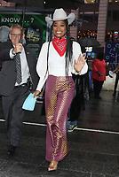 NEW YORK, NY - OCTOBER 9: Keke Palmer seen at ABC's Strahan, Sara & Keke in New York city on October 09, 2019. Credit: RW/MediaPunch