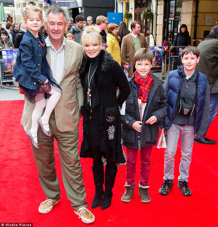 Nigel Marvin and family attend the UK Premiere of The Lego Movie at the Vue West End in Leicester Square, London on February 9th, 2014.