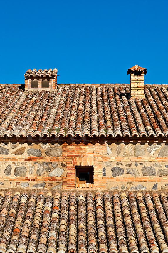 Terra cotta rooftop, Toledo, Spain