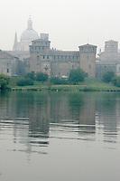 Veduta dal lago del Castello di San Giorgio, a Mantova.<br /> View of the Castle of San Giorgio from the lake, in Mantua.<br /> UPDATE IMAGES PRESS/Riccardo De Luca