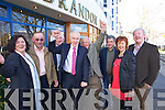 Gene Allen, Stephen Donegan, John Barrett, Jimmy Deenihan, Ned Browne, Billy Keane Mary Deenihan and Pius Horgan at the North Kerry, West Limerick Election 2011 count at the Brandon Hotel Tralee on Saturday.