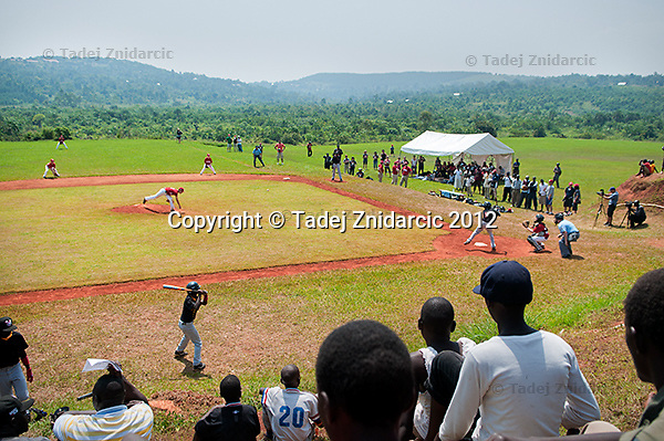 Watching the game in Mpigi, Uganda on January 17 2012 between Ugandan Little League team and Canadian Little League team from Langley.