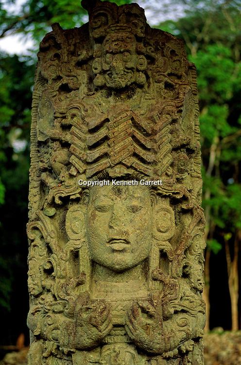 Maya; Copan; Honduras; archaeology; Classic period, Stela A, Stele A, Stella A, Waxaklahun Ubah K'awil