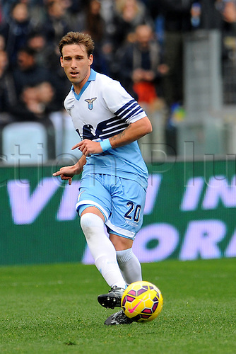 22.02.2015. Rome, Italy. Campionato Serie A Tim 24th Round. Lazio versus Palermo. Lucas Biglia of Lazio in action