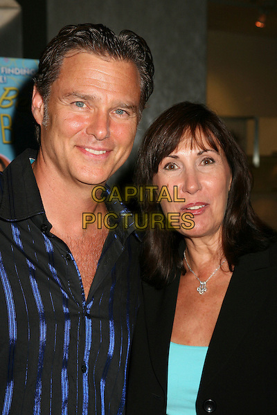 "GREG EVIGAN & PAM (WIFE).Los Angeles Premiere of ""Boynton Beach Club"" at The Pacific Design Center, West Hollywood, California, USA..August 1st, 2006.Photo: Byron Purvis/AdMedia.Ref: ADM/BP.headshot portrait husband married.www.capitalpictures.com.sales@capitalpictures.com.©Byron Purvis/AdMedia/Capital Pictures."