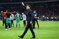 Tottenham Hotspur manager:Mauricio Pochettino celebrates reaching the champions league final after AFC Ajax vs Tottenham Hotspur, UEFA Champions League Football at the Johan Cruyff Arena on 8th May 2019