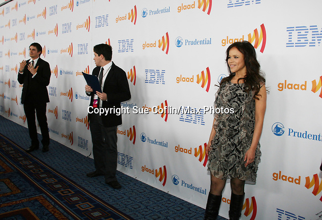Brett Claywell and Rosie Perez at the 21st Annual GLAAD Media Awards on March 13, 2010 at the New York Marriott Marquis, New York City, NY. (Photo by Sue Coflin/Max Photos)