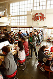 USA, California, Sausalito, always a long line for food at Fish Restaurant