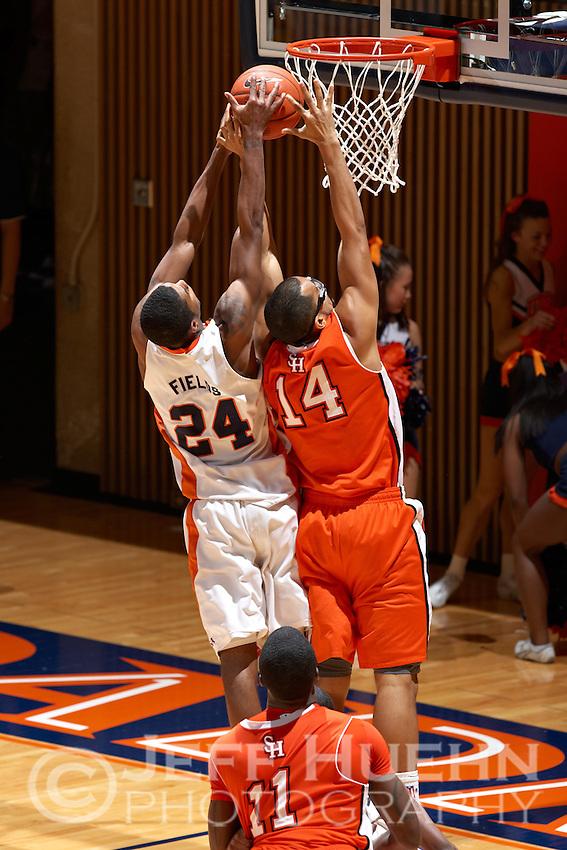 SAN ANTONIO , TX - FEBRUARY 20, 2010: The Sam Houston State University Bearkats vs. The University of Texas At San Antonio Roadrunners Men's Basketball at the UTSA Convocation Center. (Photo by Jeff Huehn)